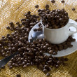 A photo of cup of coffee beans - Stock Photo