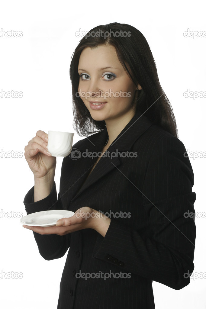 A photo of businesswoman having a cofee break — Stock Photo #10957515