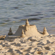 A photo of Sand Castle on the beach — Stock Photo