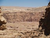 Panoramic view Petra — Stock Photo