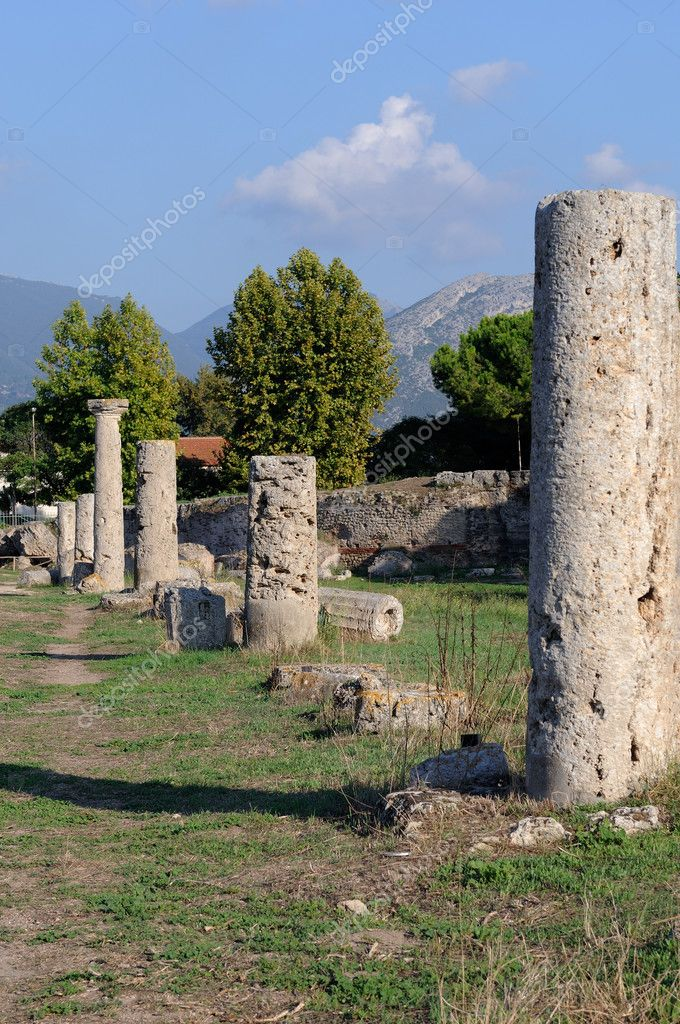 Colonne valle dei templi paestum — Stock Photo #11748347