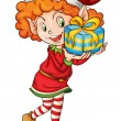 Royalty-Free Stock Imagen vectorial: Christmas elf