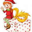 Royalty-Free Stock Imagem Vetorial: Christmas elf