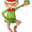 Christmas elf — Vettoriale Stock