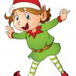 Christmas elf — Vector de stock