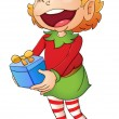 Christmas elf — Vector de stock #10764121