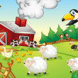 Farm scene — Vector de stock #10764611