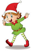 Christmas elf — Stock Vector