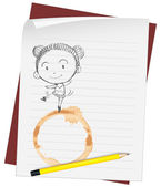 Drawing on paper — Stock Vector