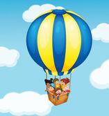 Balloon travel — Stock Vector
