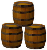 Wooden barrels — Stock Vector