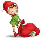 Christmas elf — Stock Vector