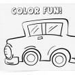 Stock Vector: Coloring worksheet