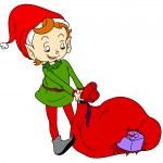 piccolo elfo — Vettoriale Stock