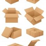 kartonové krabice — Stock vektor