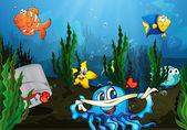 Underwater — Vector de stock