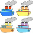 Boats in color — Stock Vector