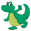Royalty-Free Stock Vector Image: Cartoon crocodile