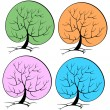Tree seasons — Stock Vector