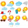 Weather icons — Stock Vector #10862383