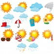 Stok Vektör: Weather icons