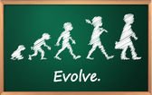 Evolution — Vector de stock