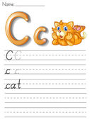Alphabet handwriting series — Stock Vector