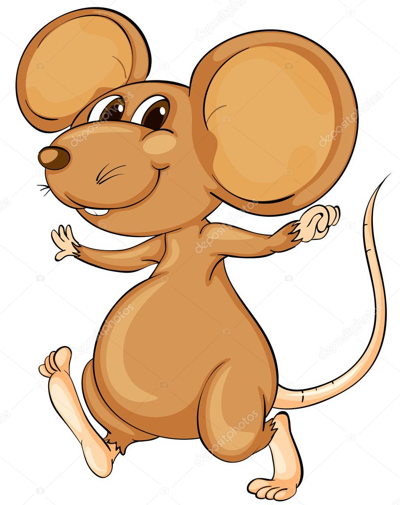 Cute mouse — Stock Vector © interactimages #10862217