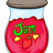 Stock Vector: Jam jar