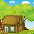 Cartoon hut — Vector de stock #10947176