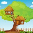 Stock Vector: Tree house