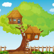 Tree house — Stock Vector #10947235