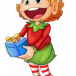 Vector de stock : Little elf