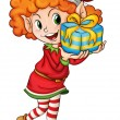 Little elf — Stock Vector #10947297
