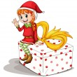 Little elf - Stock Vector