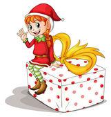 Little elf — Stock Vector