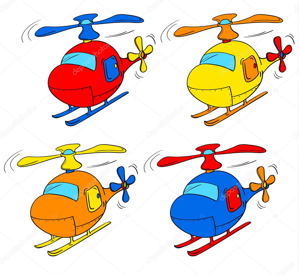 Illustration of a set of choppers — Stock Vector #10947109