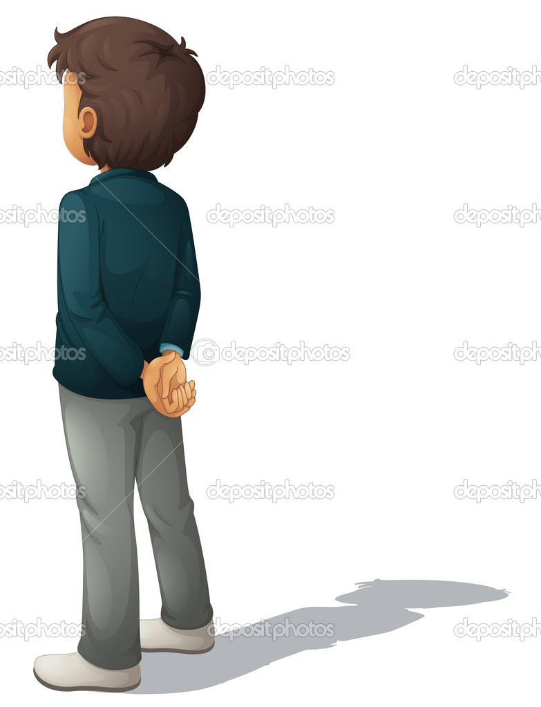 Business man on a white background — Stock Vector #10947214
