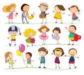 Blandade barn — Stockvektor