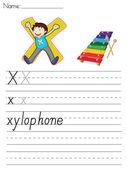 Alphabet worksheet — Stock Vector