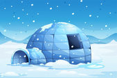 Igloo — Vector de stock