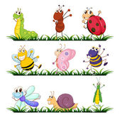 Insects and small animals — Stock Vector