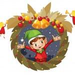 Wreath — Stock Vector