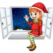 Stock Vector: Little elf