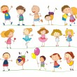 Simple kids - Stock Vector