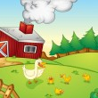 Farm scene — Stock Vector #11100751