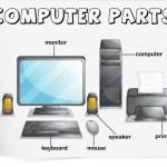Computer parts — Stock Vector