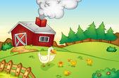 农场现场 — 图库矢量图片