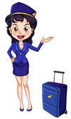 Air hostess — Stock Vector