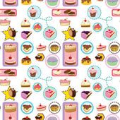 Various cakes — Stock Vector